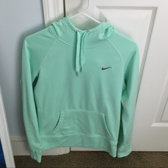 Nike women's therma fit mint green sweatshirt